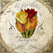 Le Jardin Tulipes Art Print