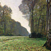 Le Pave De Chailly Print by Claude Monet