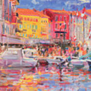Le Port De St Tropez Art Print by Peter Graham
