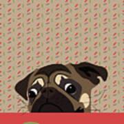 Le Pug Et Le Macaron Art Print