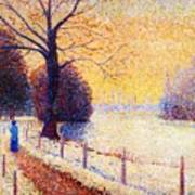Le Puy In The Snow 1889 Art Print