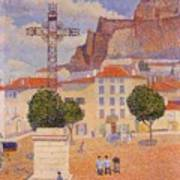 Le Puy The Sunny Plaza 1890 Art Print