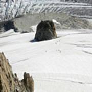 Le Rognon Glacier D'argentiere Vue Depuis L'aiguille Des Grands Montets Argentiere Haute Savoie Art Print