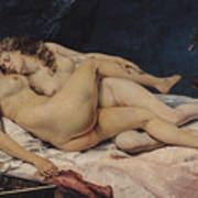 Le Sommeil Art Print by Gustave Courbet