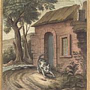 Le Vieux Chat Et La Jeune Souris (the Old Catand The Young Mouse) Art Print