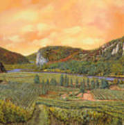 Le Vigne Nel 2010 Art Print by Guido Borelli