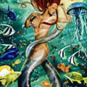 Lea The Mermaid Art Print
