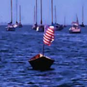Leader Of The Pack- Bristol Rhode Island Oil Effect Art Print