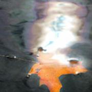 Leaf In Water Art Print