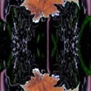 Leaf Melding Art Print