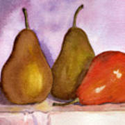 Leaning Pear Art Print