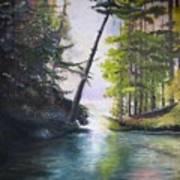 Leaning Tree Lake George Art Print