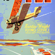 Learn To Fly Vintage Poster Restored Art Print