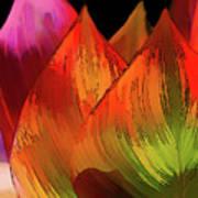 Leaves Aflame Art Print