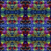 Leaves Batik Tiled Art Print