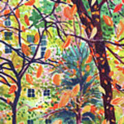 Leaves In Nyc Art Print