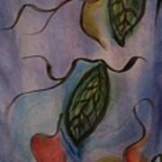 Leaves On Silk Art Print
