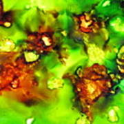 Leaves On The Stream Art Print