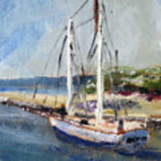 Leaving Sesuit Harbor Art Print