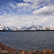 Leaving The Grand Tetons Art Print