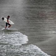 Leaving The Surf Art Print
