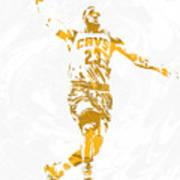 Lebron James Cleveland Cavaliers Pixel Art 12 Art Print