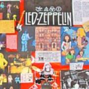 Led Zeppelin Color Collage Art Print
