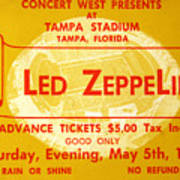 Led Zeppelin Ticket Art Print