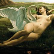 Leda And The Swan - Sensual Art Print