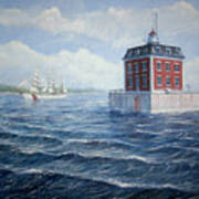 Ledge Lighthouse Art Print