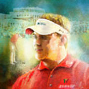 Lee Westwood Winning The Portugal Masters 2009 Art Print