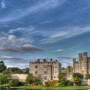 Leeds Castle And Moat Rear View Art Print