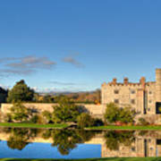Leeds Castle And Moat Reflections Art Print