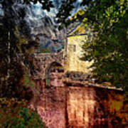 Leeds Castle Gatehouse And Moat Art Print
