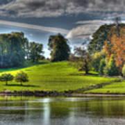 Leeds Castle Lake View Art Print