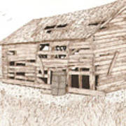 Lee's Barn Print by Pat Price