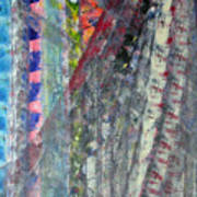 Left Blue Art Print