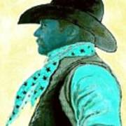 Left Facing Cowboy Art Print