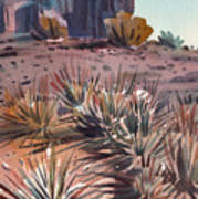 Left Mitten And Yucca Art Print