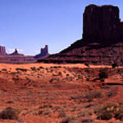 Left Mitten Monument Valley Navajo Tribal Park Art Print