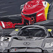 Legend Michael Schumacher Art Print