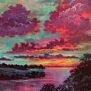 Legend Of A Sunset Art Print
