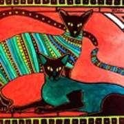 Legend Of The Siamese - Cat Art By Dora Hathazi Mendes Art Print