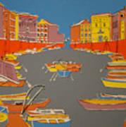 Leghorn Canal Art Print