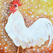Leghorn Rooster Do The Funky Chicken Art Print