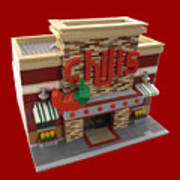 Lego Chili's Restaurant Art Print