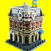 Lego Corner Shop And Apartments Art Print
