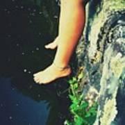 Legs Over Water Art Print