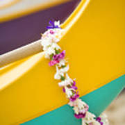 Lei Draped Over Outrigger Print by Dana Edmunds - Printscapes