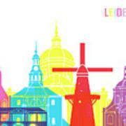 Leiden Skyline Pop Art Print